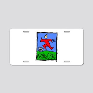 Soccer Craze Aluminum License Plate