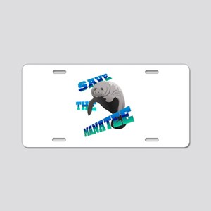 Save the Manatee Aluminum License Plate