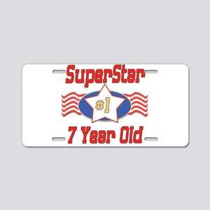 Superstar at 7 Aluminum License Plate