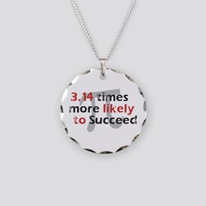 Pi Success Funny Math Necklace Circle Charm