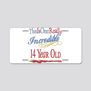 Incredible At 14 Aluminum License Plate