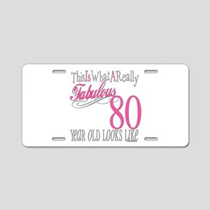 80th Birthday Gift Aluminum License Plate