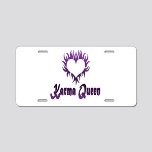 Karma Queen Aluminum License Plate
