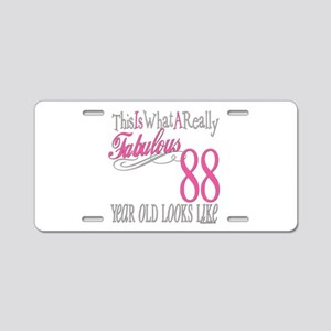 88th Birthday Gifts Aluminum License Plate