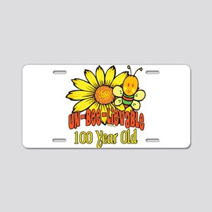 Un-Bee-Lievable 100th Aluminum License Plate
