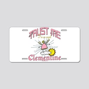 Angelic Clementine Aluminum License Plate