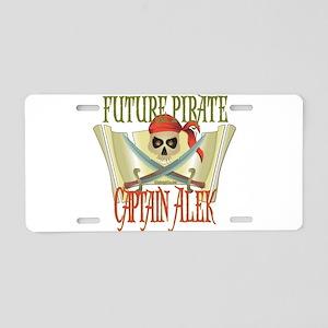 Captain Alek Aluminum License Plate