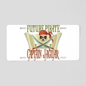 Captain Jaguar Aluminum License Plate