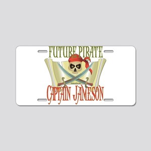 Captain Jameson Aluminum License Plate