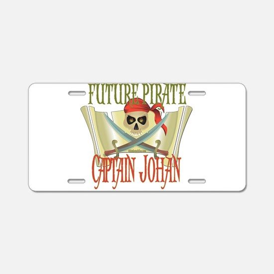 Captain Johan Aluminum License Plate