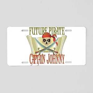Captain Johnny Aluminum License Plate