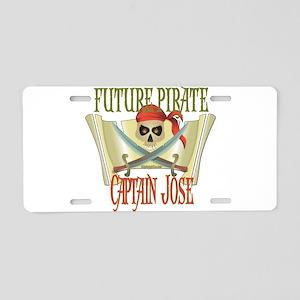 Captain Jose Aluminum License Plate