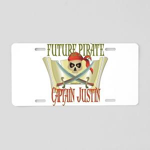 Captain Justin Aluminum License Plate
