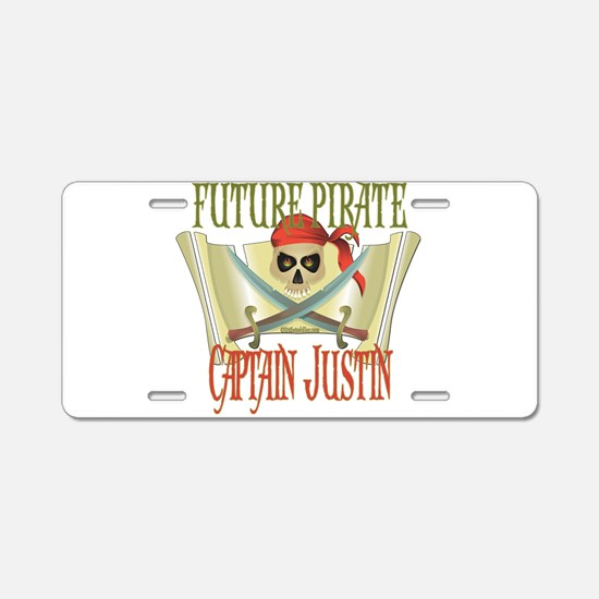 Captain Justin Aluminum License Plate
