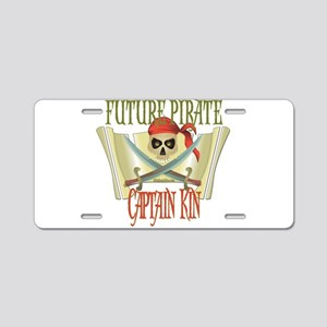 Captain Kin Aluminum License Plate
