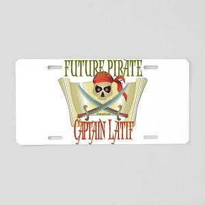 Captain Latif Aluminum License Plate