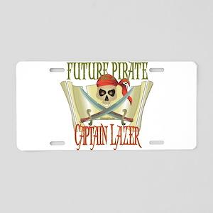 Captain Lazer Aluminum License Plate