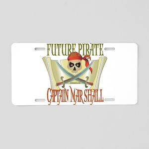 Captain Marshall Aluminum License Plate