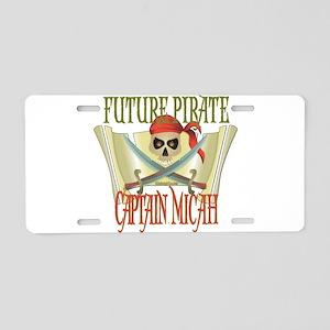 Captain Micah Aluminum License Plate