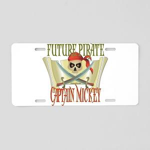 Captain Mickey Aluminum License Plate