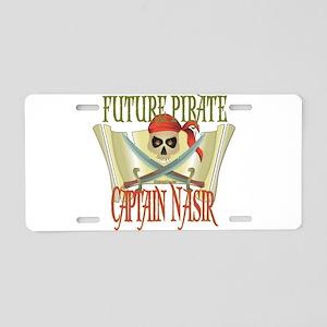Captain Nasir Aluminum License Plate