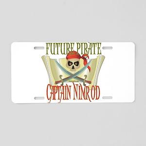 Captain Nimrod Aluminum License Plate