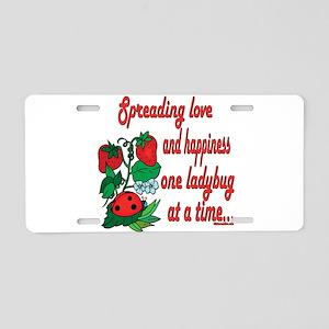 Spreading Love Ladybugs Aluminum License Plate