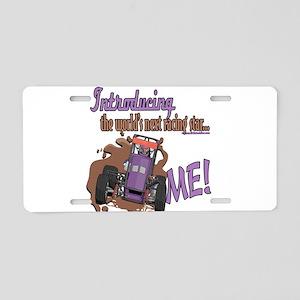 Future Gokart Racer Aluminum License Plate