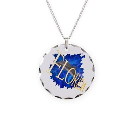 Florida blue Necklace Circle Charm