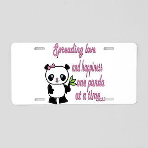 Spreading Love Pandas Aluminum License Plate
