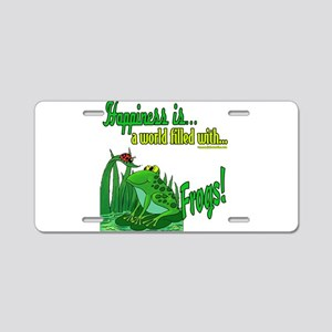 Happiness is a Frog Aluminum License Plate