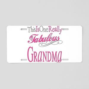 Fabulous Grandma Aluminum License Plate