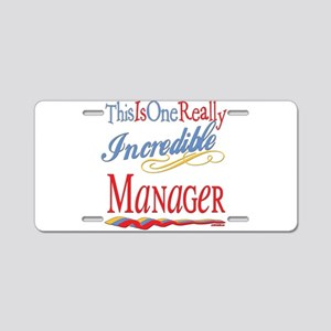 Incredible Manager Aluminum License Plate