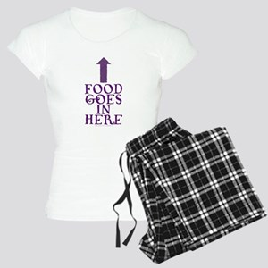 Food Goes In Here Women's Light Pajamas