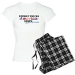 Without Trucks America Stop Women's Light Pajamas