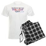 Without Trucks America Stops Men's Light Pajamas