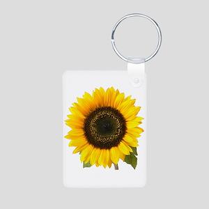 Sunflower Aluminum Photo Keychain
