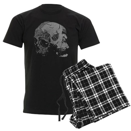Skulls Double Time Men's Dark Pajamas