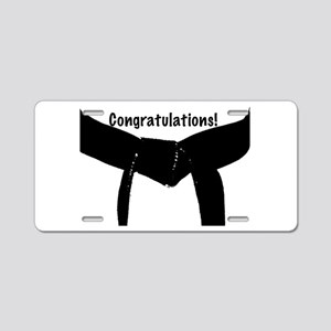 Black Belt Congrats Aluminum License Plate