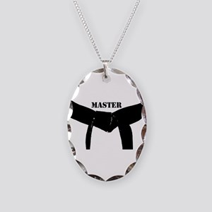 Martial Arts Master Necklace Oval Charm