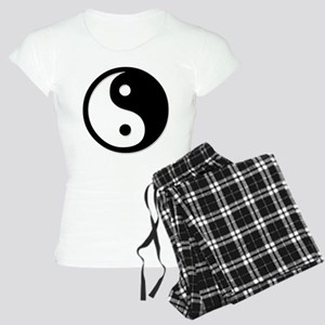 Black Yin Yang Women's Light Pajamas