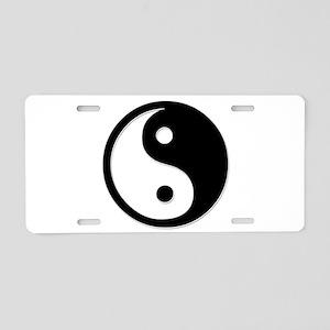 Black Yin Yang Aluminum License Plate