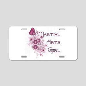 Martial Arts Girl Aluminum License Plate