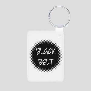 Martial Arts Black Belt Aluminum Photo Keychain