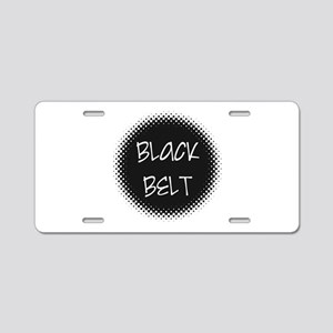 Martial Arts Black Belt Aluminum License Plate