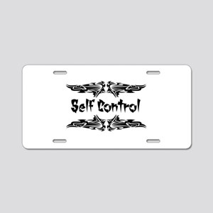 Martial Arts Self Control Aluminum License Plate