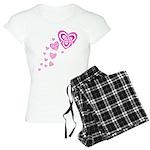 Pink Celtic Hearts Women's Light Pajamas