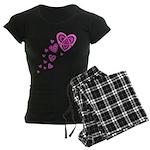 Pink Celtic Hearts Women's Dark Pajamas