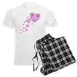 Pink Celtic Hearts Men's Light Pajamas