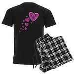 Pink Celtic Hearts Men's Dark Pajamas